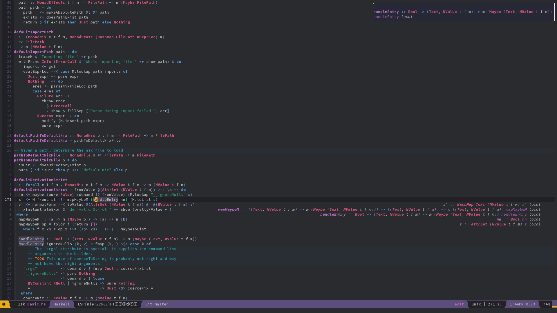 Integrating NixOS/Nix, Haskell IDE Engine, Emacs - Latukha